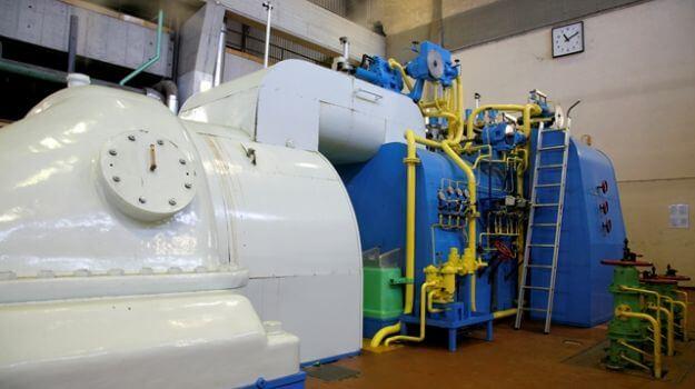 Parna turbina  št. 1 v enoti TE-TOL.