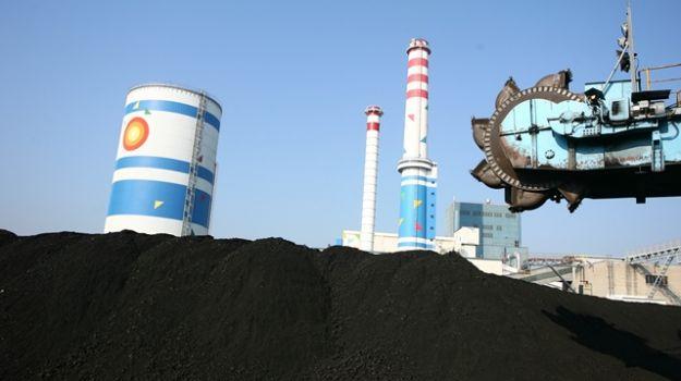Deponija premoga v enoti TE-TOL.